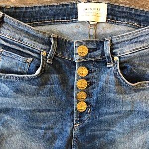 McGuire Denim Jeans - McGuire Denim Gainsbourg Button Fly Crop Jeans